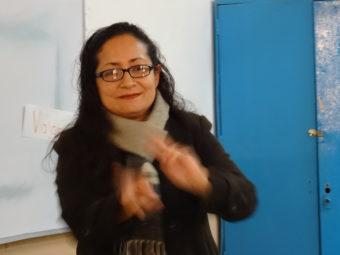 Gehörlose Lehrerin Gaby